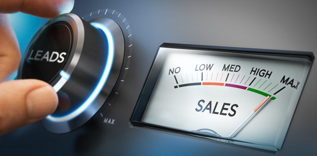 """Anzeige mit der Aufschrift """"Sales"""" und Scala von """"No"""" bis """"Max"""""""